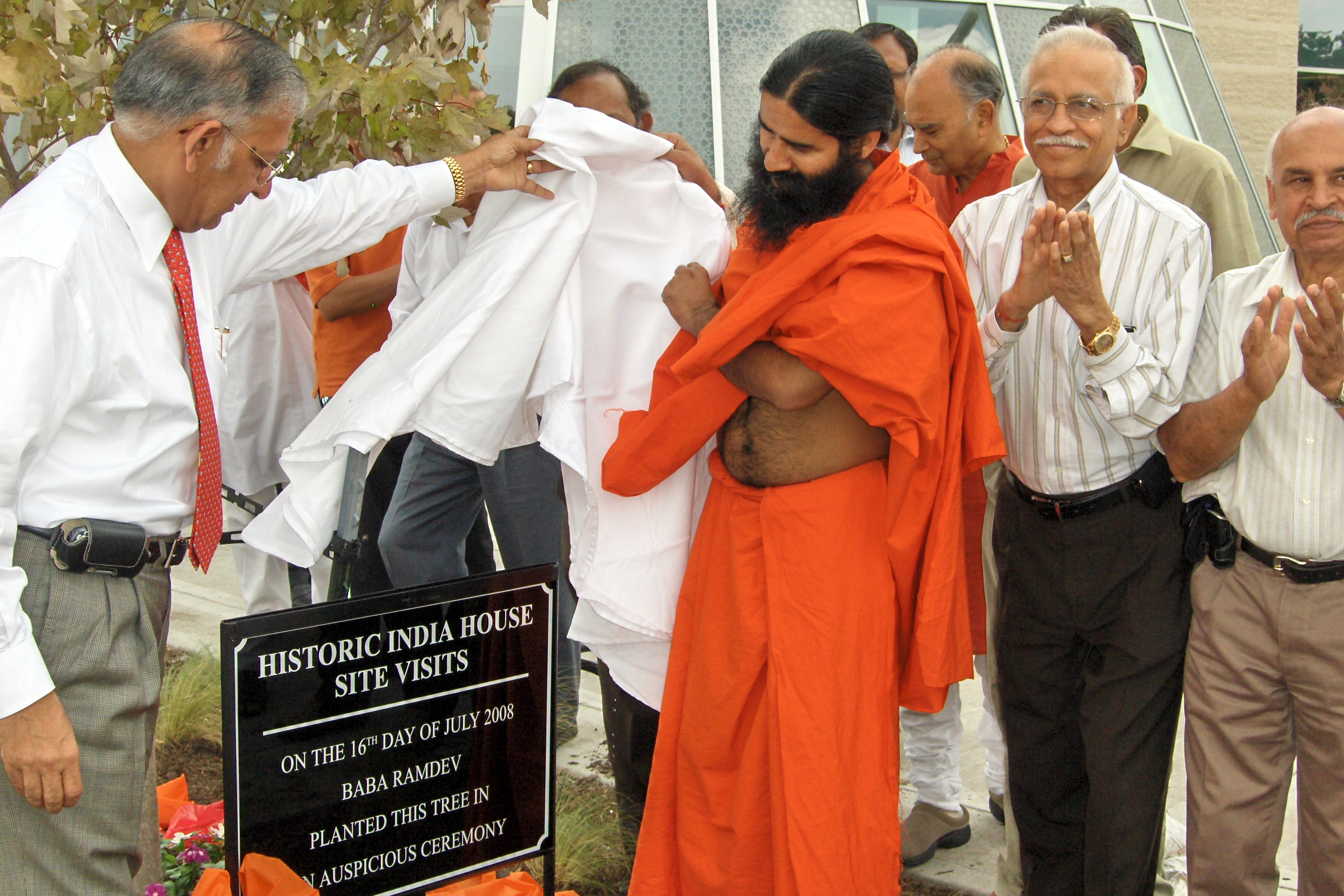 Baba Ramdev visited India House Facility  - India House Houston